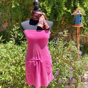 Vintage Hot Pink Towel Dress
